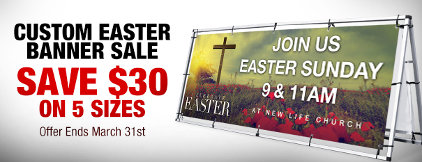 Easter Outdoor Banner Sale