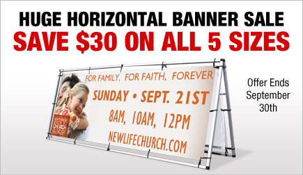 Huge Outdoor Banner Sale!
