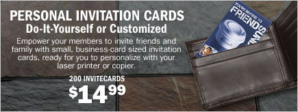 Personal Invitation Cards - Do-It-Yourself or Customized - 200 InviteCards $14.99