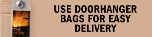 Use doorhanger bags for easy delivery