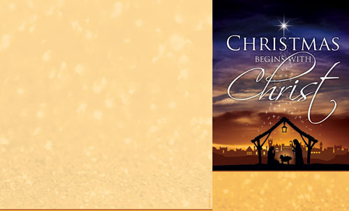 Christmas Begins Christ Bulletin - Church Bulletins - Outreach ...