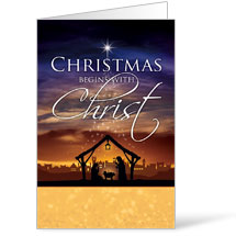 Christmas Begins Christ - 8.5 x 14 Bulletins
