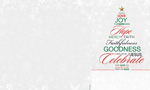 christmas word tree bulletin - church bulletins