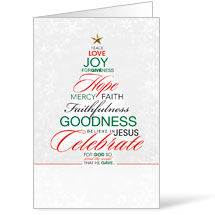 Christmas Word Tree - 8.5 x 14 Bulletins