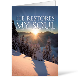 Restores My Soul  8.5 x 14 Bulletins