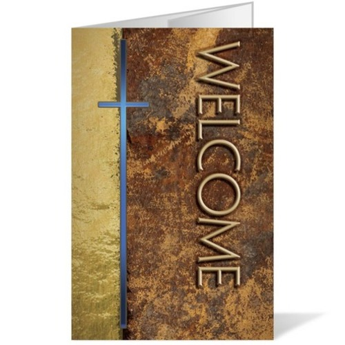 "Church Bulletin - Leather Welcome 8.5"" x 14"" - Outreach ..."