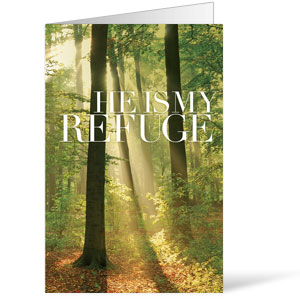 He is My Refuge 8.5 x 14