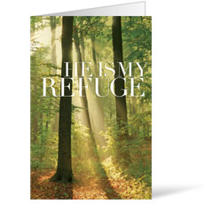 He is My Refuge Bulletin