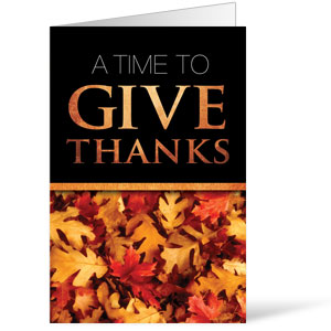 Church Bulletin Time To Give Thanks 8 5 Quot X 14