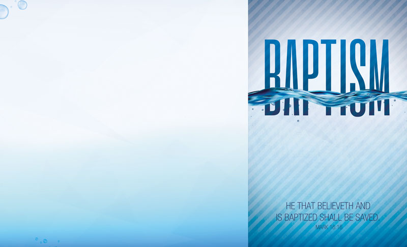 baptism blue bulletin - church bulletins