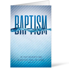 Baptism Blue Bulletin