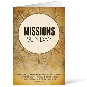 Mission Sunday Map 8.5 x 14 Bulletins