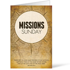 Mission Sunday Map Bulletin