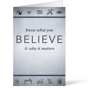 Believe Now Live The Story - 8.5 x 14 Bulletins