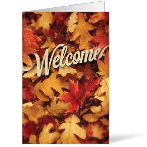 Welcome Leaf Pile 8.5 x 14 Bulletins