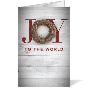 Joy Twig Wreath 8.5 x 14 Bulletins