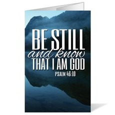 Scenery Scripture Psalm 46:10 Bulletin