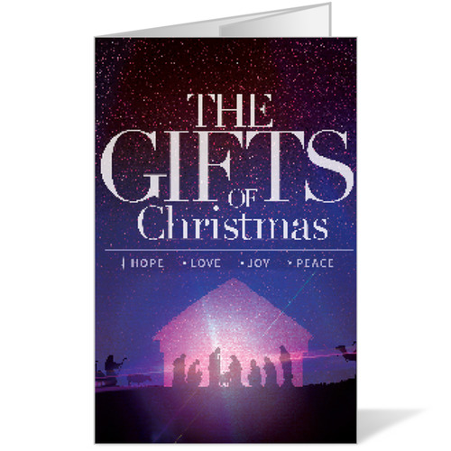 The Gifts Of Christmas Advent Bulletin Church Bulletins