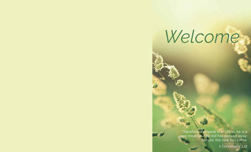 Welcome Season Spring Bulletin Church Bulletins
