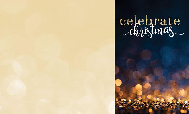 Glitter Sparkle Christmas Bulletin - Church Bulletins ...