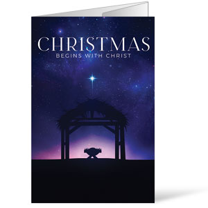 Begins With Christ Manger Bulletins