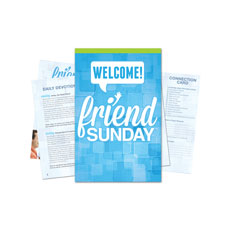 Friend Sunday Welcome Bulletin Guide