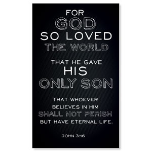 Chalk Jn 3:16 LightBox Graphic Insert