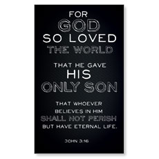 Chalk Jn 3:16 LED LightBox Graphic