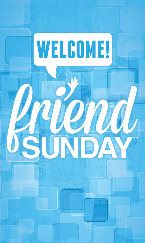 Friend Sunday Welcome Light Box Graphic