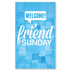 Friend Sunday Welcome LED LightBox Graphic