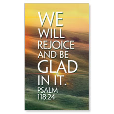We Will Rejoice Right LED LightBox Graphic