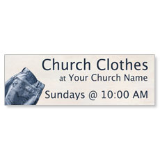 Church Clothes Banner