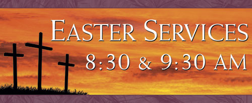 Banners, Easter, Crosses - 4 x 10, 4' x 10'