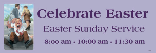 Banners, Easter, Easter Draag - 15, 5' x 15'