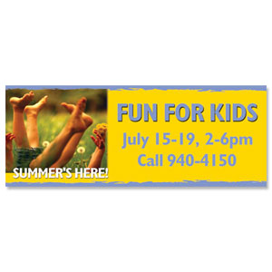 Summer Fun 3 x 8 ImpactBanners