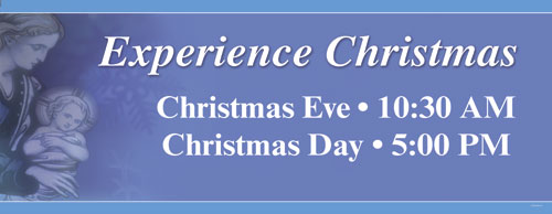 experience christmas banner church banners outreach marketing