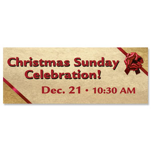 Christmas Bow Banners
