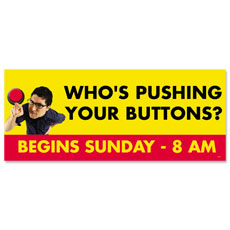 Pushing Buttons Banner