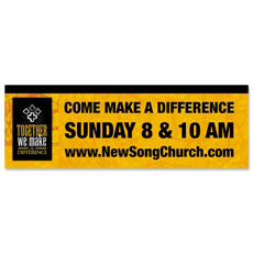 Make a Difference Gold Banner