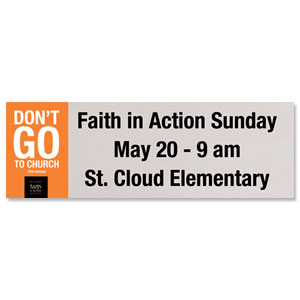 Faith In Action Banners