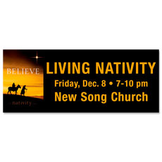 Nativity Believe Banner