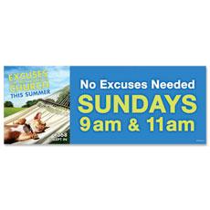 Summer Dog Excuse Banner