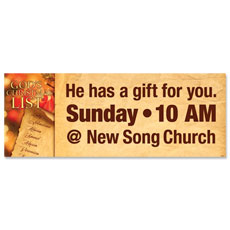 God's Christmas List Banner