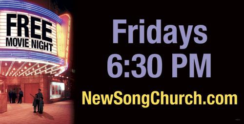 Free Movie Night Banner Church Banners Outreach Marketing