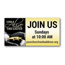 Come Alive Easter Banner