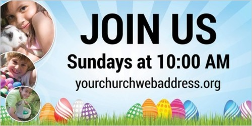 Banners, Easter, Free Egg Hunt - 4 x 8, 4' x 8'