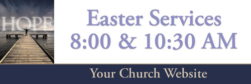 Banners, Easter, Easter Hope Lake - 5 x 15, 5' x 15'