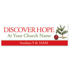 Hope Christmas Tree Banner