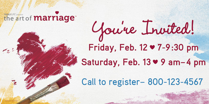 Church Banner Art Of Marriage 4 X 8 Outreach Marketing
