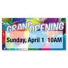 Grand Opening Balloons Banner